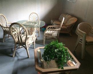 bamboo coffee table diing table 4 3 seats sofa
