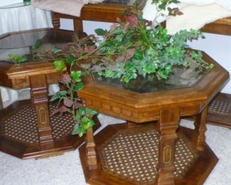 3 PC. SOFA TABLE AND 2 LAMP TABLES