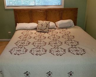Lea king size headboard, king size quilt