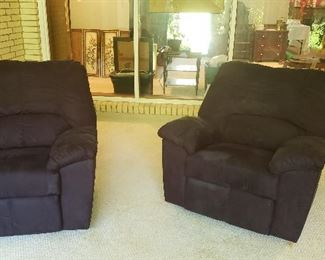 Ashley navy blue recliners
