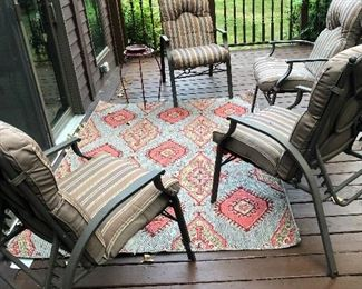 patio conversation set & outdoor rug