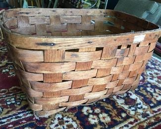 Vintage, rustic oblong basket