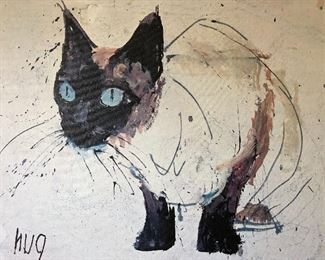 Siamese Cat Painting On Canvas