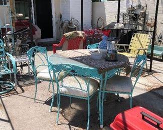 Metal Dining Set and Cabana