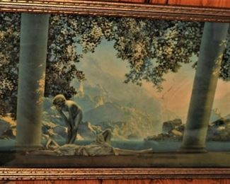 "Maxfield Parrish ""Daybreak"" by The House of Art, N.Y. Original Frame"