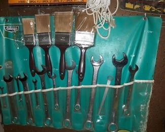 Paint Brushes and Wrench Set