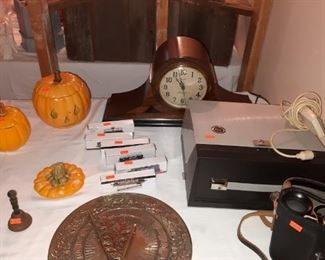 Clocks, Sundial, Binoculars, Holiday Decor