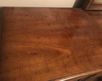Top of solid wood bedroom dresser