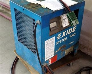 Exide Electric Battery Charger, System 1000, Type G Model #G1-18-865B, 220 Hook-up, 36 Volt Output, 160 Amps, Powers On