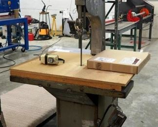 Biro Electric Bandsaw, Model #34, 120 Volt Includes Additional Saw Blades And Ear Protection