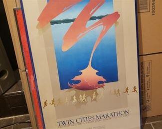 Twin Cities Marathon art poster
