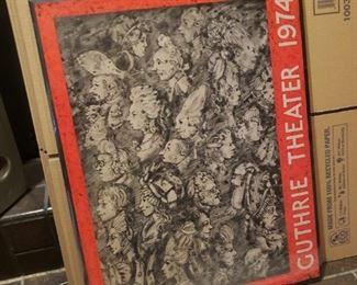 1974 Guthrie Theater art poster