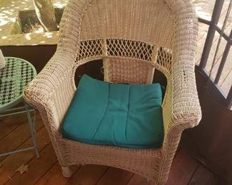 Chair #2 of wicker set