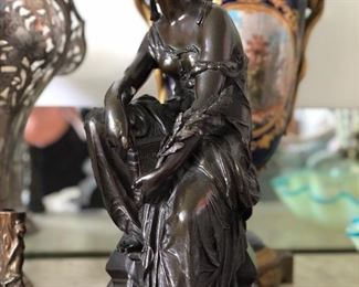 Bronze figure about 18in. tall