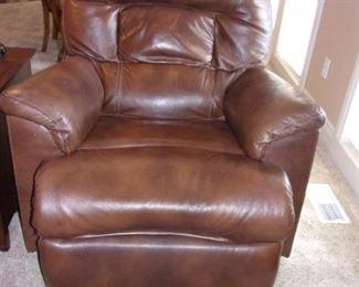 Two Flexsteel leather recliner/rockers.