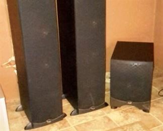 Klipsch speakers and subwoofer.