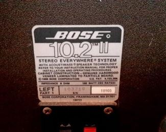 Bose Stereo Everywhere System!