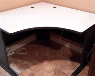 TWO commercial grade corner desks.
