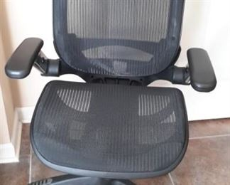 TWO ultra comfortable office chairs.