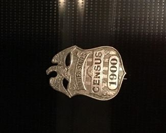 Census badge from 1900