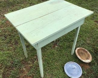 Old farm style table two board