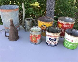 Well bucket lard pails