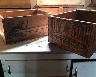 Old Dutch wooden box