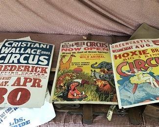Cardboard circus posters