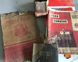 Sickle blades in original box manuals