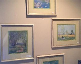 4 Monet prints.