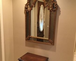 Incredible mirror! Nesting tables.
