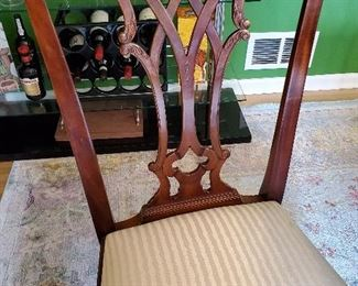 Magnificent Carved Trellis Backed Chairs