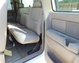 Rear passenger area. Dont forget the Bose speaker system!