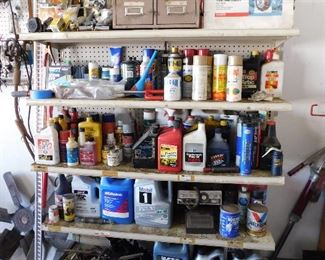 We have several shelves filled with fluids, oil, come alongs, ice chains (both passenger and big rigs)