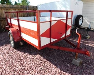 Open bed trailer 5' x 8'