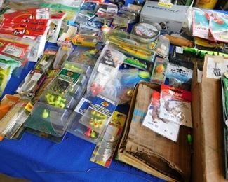 Table of lures and faux bait