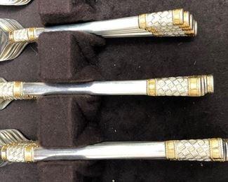Wallace Aegean Weave sterling flatware