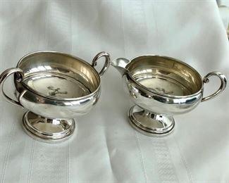 Sterling silver creamer/sugar