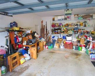 Triple Garage Full of Useful Stuff.