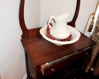 Antique wash basin and stand