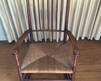 Antique Wood & Rattan Rocking Chair  https://ctbids.com/#!/description/share/209780
