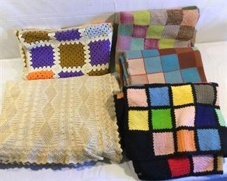 Handmade Vintage Blankets & Throws 5 Piece https://ctbids.com/#!/description/share/209433