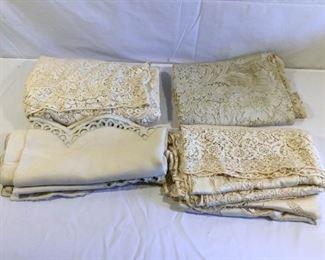 Antique/Vintage Table Clothes (4Pcs) https://ctbids.com/#!/description/share/209647