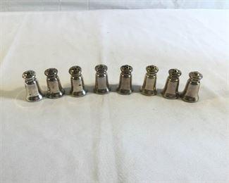 Sterling Salt and Pepper Shaker Vintage 8 Piece https://ctbids.com/#!/description/share/209708