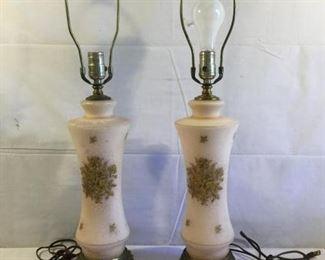 1950 Boudoir Style Glass Lamps Vintage 2 Piece https://ctbids.com/#!/description/share/209770
