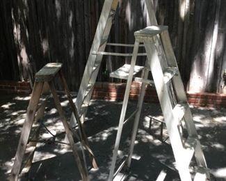 Vintage Wood & Aluminum Ladders(3Pcs) https://ctbids.com/#!/description/share/209440