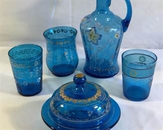 Hand-painted Blue Glassware Set (6Pcs) https://ctbids.com/#!/description/share/209650