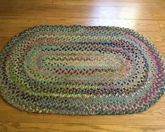 Small Hand Braided Oval Rug Vintage https://ctbids.com/#!/description/share/209709