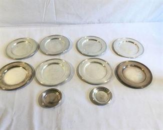 Sterling Plates Vintage 10 Piece      https://ctbids.com/#!/description/share/209710