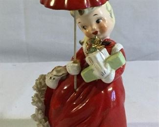 Vintage 1956 Napco Christmas Girl with Umbrella https://ctbids.com/#!/description/share/209652